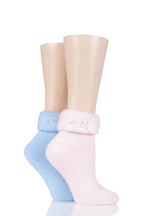 Ladies 2 Pair Elle Original Cosy Bed Socks Product Image