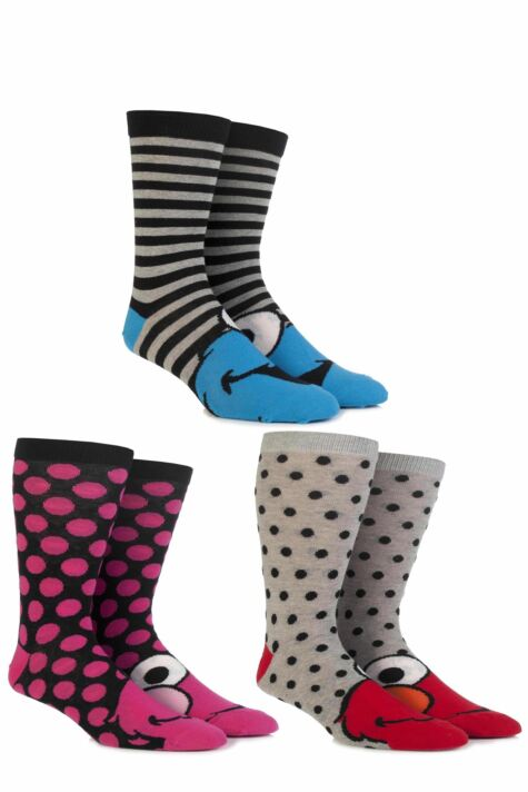 Ladies 3 Pair SOCKSHOP Sesame Street Socks Product Image