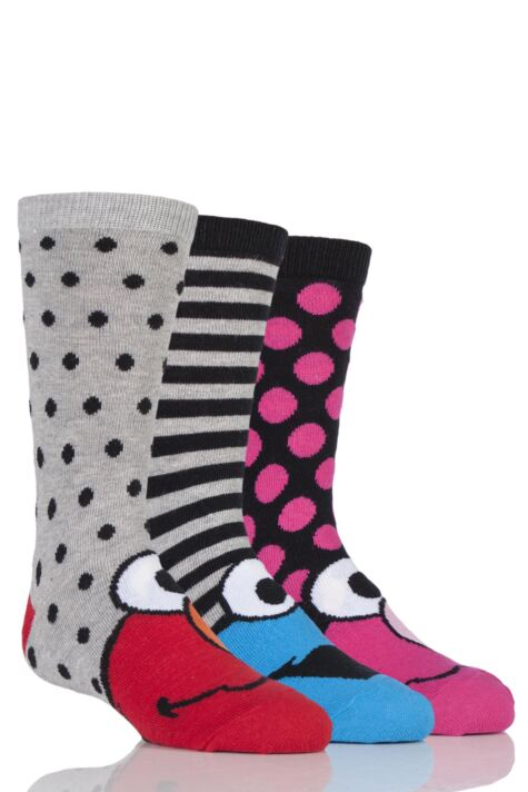Kids 3 Pair SockShop Sesame Street Socks Product Image