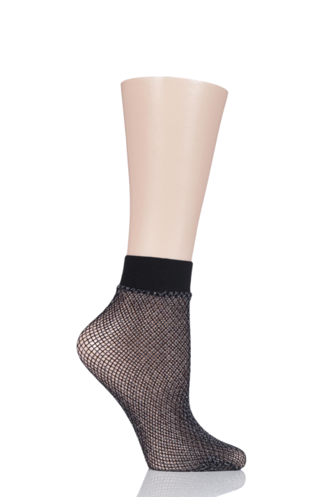1 Pair Elle Lurex Fishnet Anklet Socks Product Image