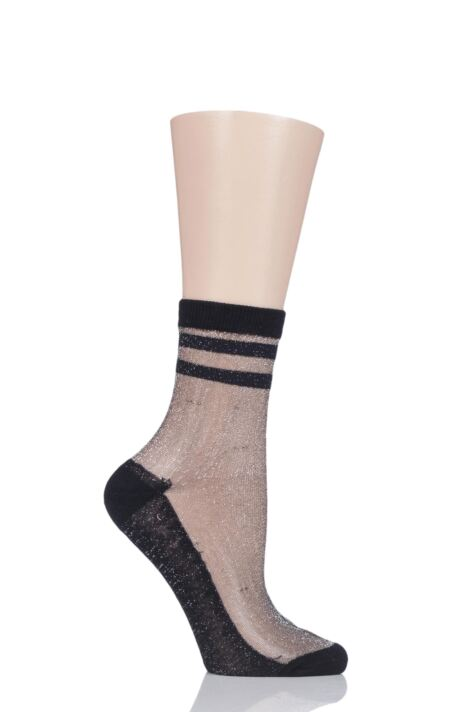 Ladies 1 Pair Elle Fishnet and Fashion Anklet Socks Product Image