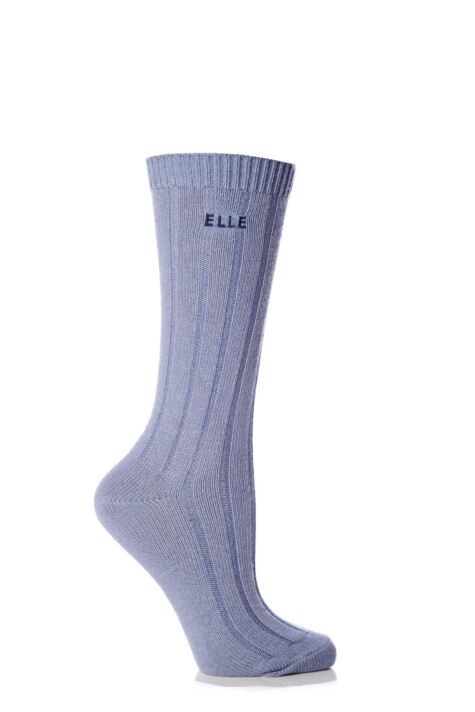 Ladies 1 Pair Elle Wool Ribbed Boot Socks Product Image