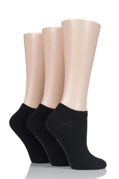 Ladies 3 Pair Jennifer Anderton Plain Cotton Trainer Socks Product Image