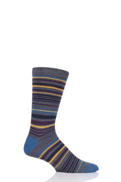 Mens 1 Pair Thought Marshland Striped Bamboo and Organic Cotton Socks Product Image