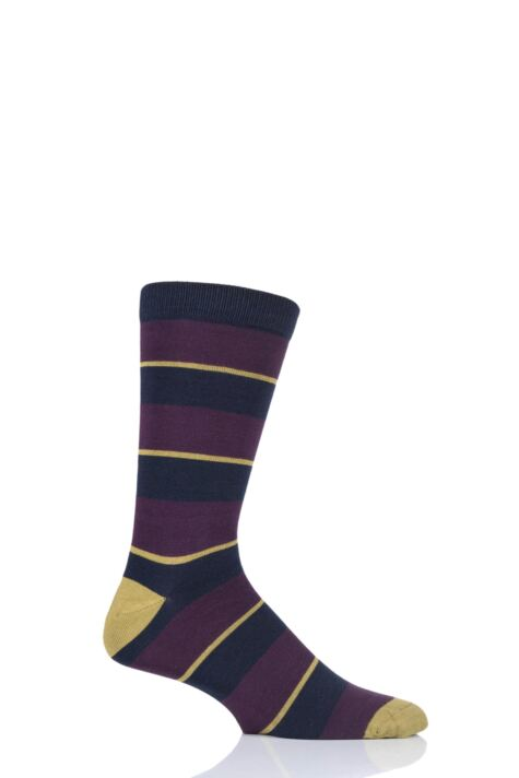 Mens 1 Pair Thought Elfield Broad Stripe Bamboo and Organic Cotton Socks Product Image