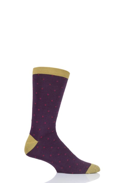 Mens 1 Pair Thought Randall Contrast Heel and Toe Bamboo and Organic Cotton Socks Product Image