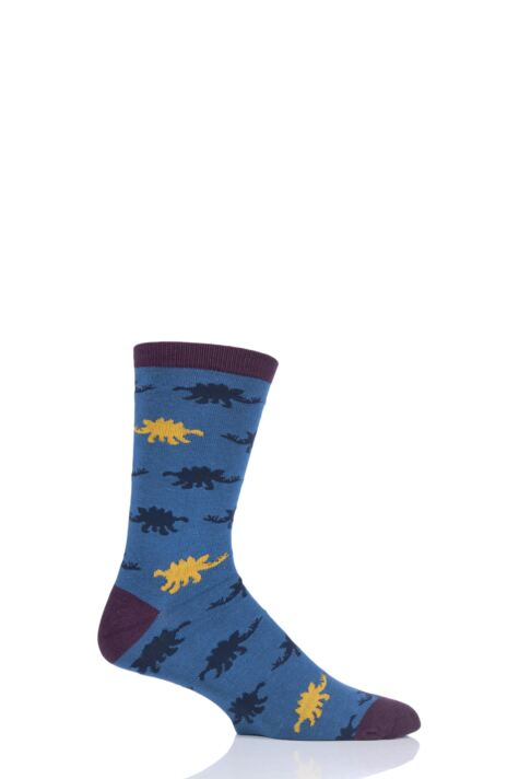Mens 1 Pair Thought Dinosaur Bamboo and Organic Cotton Socks Product Image