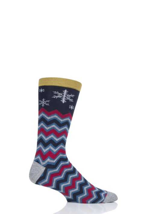 Mens 1 Pair Thought Snowflake Bamboo and Organic Cotton Socks Product Image