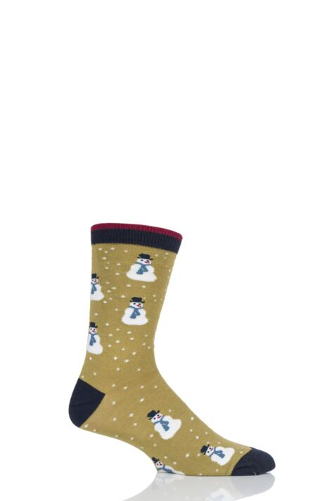 Mens 1 Pair Thought Snowman Bamboo and Organic Cotton Socks Product Image