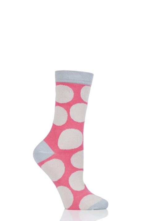 Ladies 1 Pair Thought Luna Large Dots Bamboo and Organic Cotton Socks Product Image