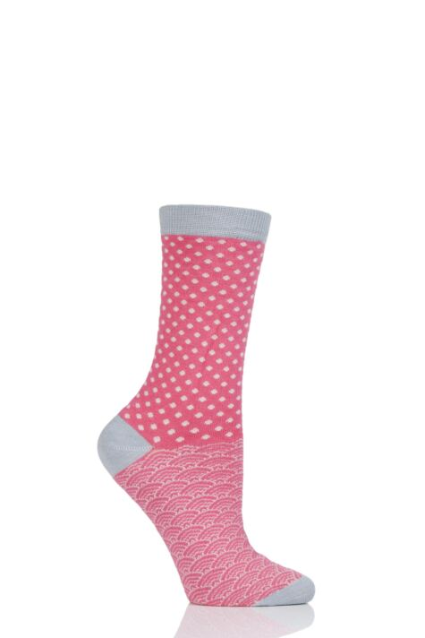 Ladies 1 Pair Thought Wren Small Dots Bamboo and Organic Cotton Socks Product Image