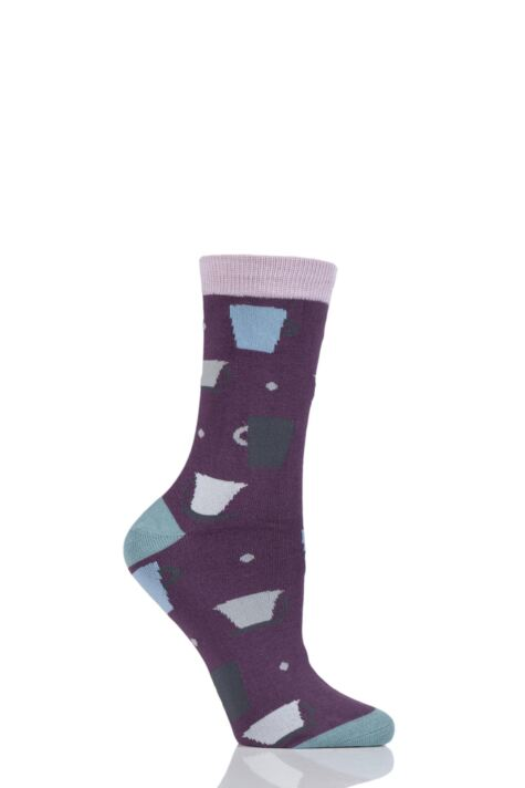 Ladies 1 Pair Thought Tova Tea Cup Bamboo Socks Product Image