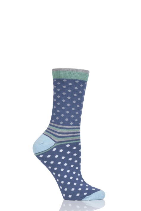 Ladies 1 Pair Thought Jarrel Dots and Stripes Bamboo and Organic Cotton Socks Product Image
