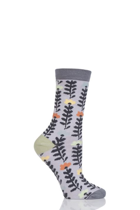 Ladies 1 Pair Thought Lore Floral Bamboo and Organic Cotton Socks Product Image