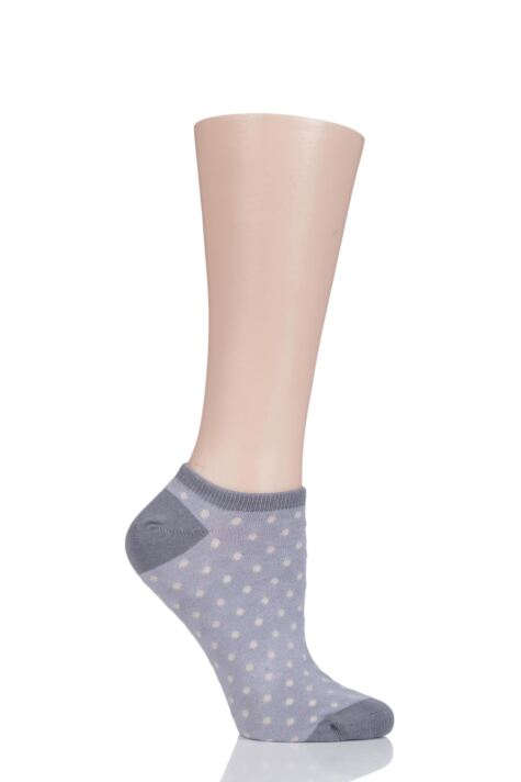 Ladies 1 Pair Thought Saffi Dots Bamboo and Organic Cotton Trainer Socks Product Image