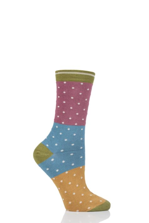 Ladies 1 Pair Thought Natacha Spots Bamboo and Organic Cotton Socks Product Image