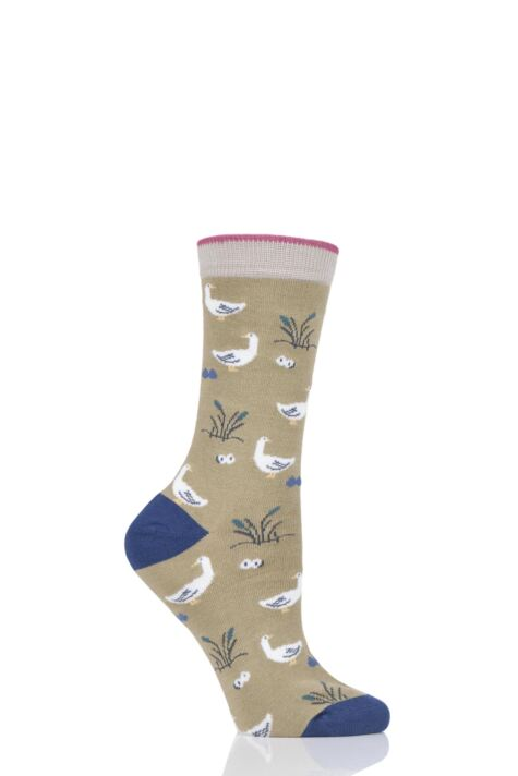 Ladies 1 Pair Thought Goosey Lucy Bamboo and Organic Cotton Socks Product Image