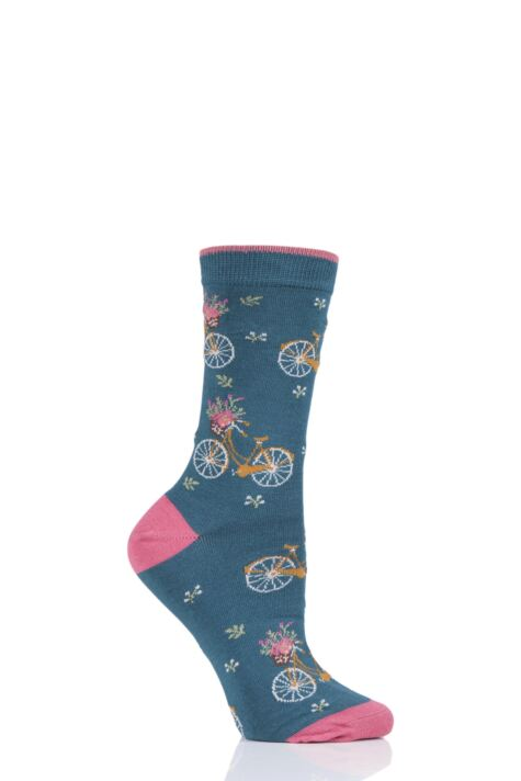 Ladies 1 Pair Thought Bicicletta Bicycle Bamboo and Organic Cotton Socks Product Image
