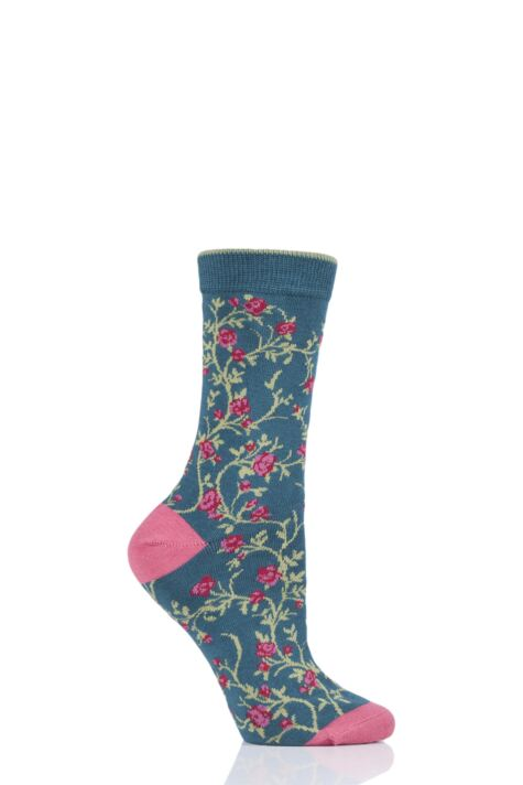 Ladies 1 Pair Thought Floreale Flower Bamboo and Organic Cotton Socks Product Image