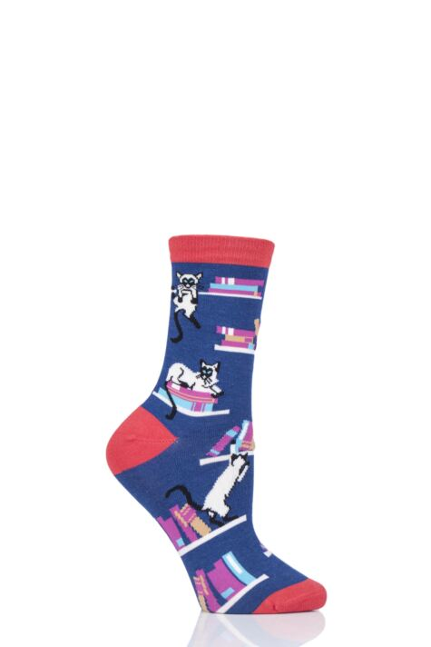 Ladies 1 Pair Thought Gatto Cats Bamboo and Organic Cotton Socks Product Image