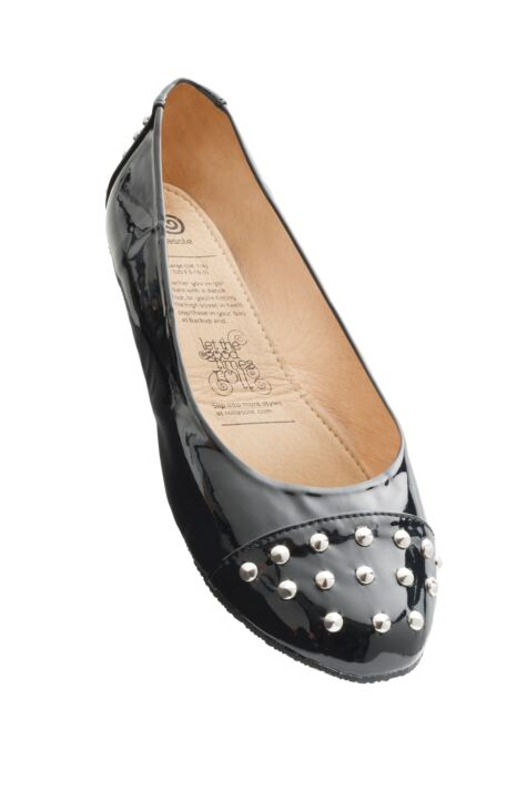 Ladies 1 Pair Rollasole Studded Toe Rollable After Party Shoes to Keep in Your Handbag Product Image