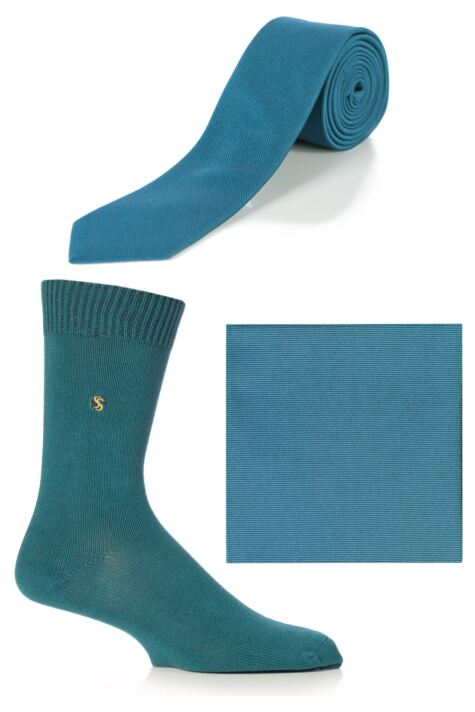 Mens SockShop Colour Burst Socks, Tie and Pocket Square Matching Set - Save over 30% Product Image