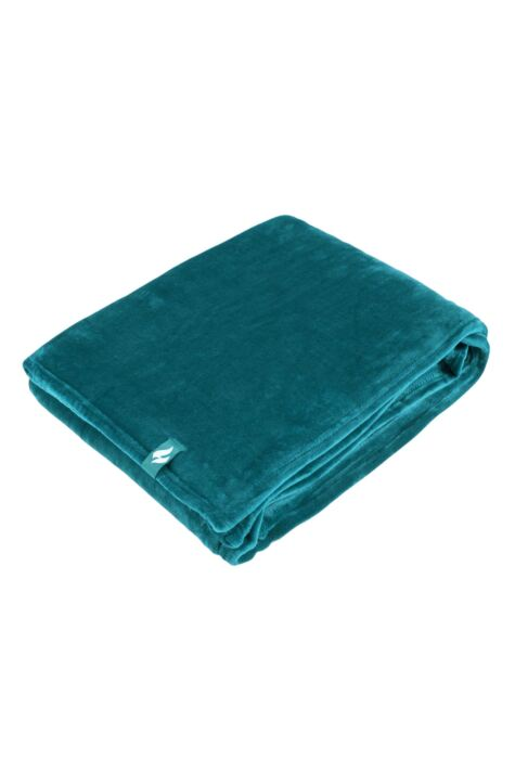 SockShop Heat Holders Snuggle Up Thermal Blanket In Teal Product Image