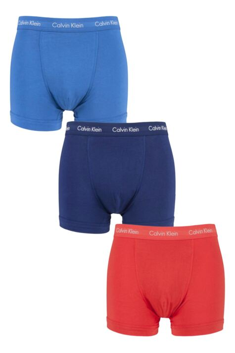 Mens 3 Pack Calvin Klein Cotton Stretch Trunks Product Image