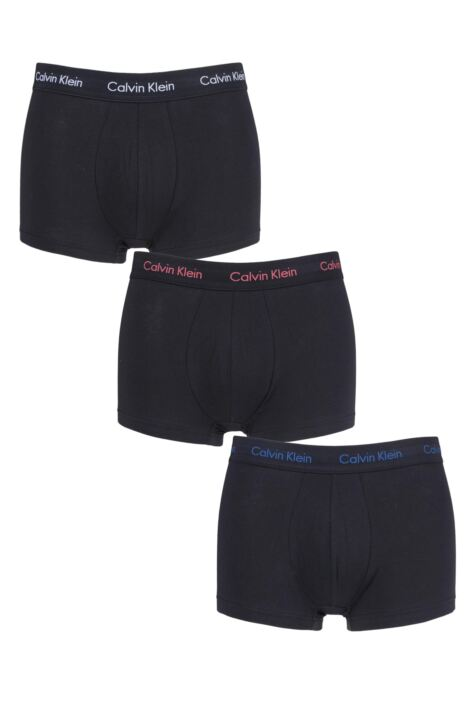Mens 3 Pair Calvin Klein Low Rise Trunks Product Image