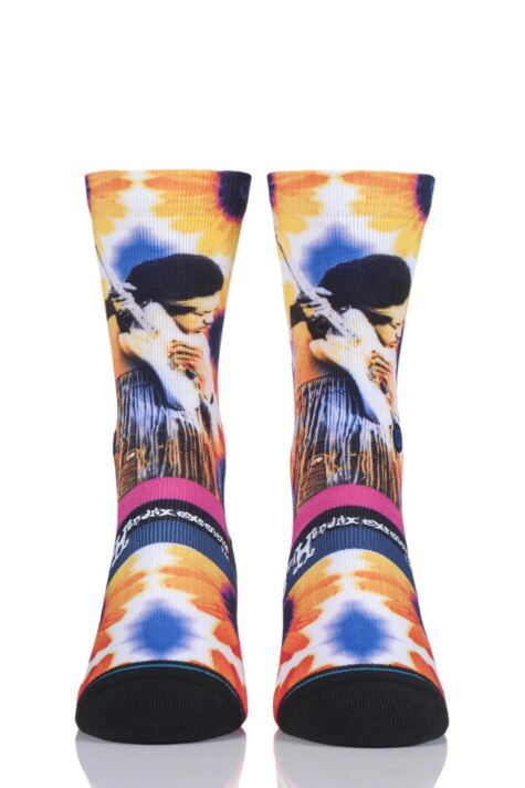 Mens 1 Pair Stance Jimi Hendrix Collaboration Jimi Sunflowers Socks Product Image