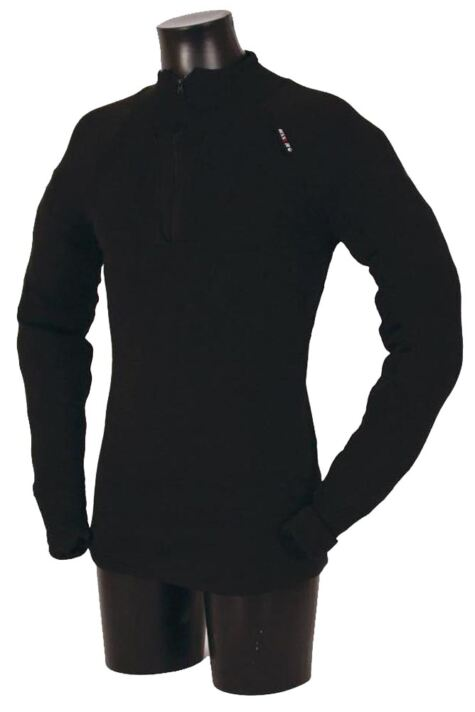Mens 1 Pack Ussen Baltic Norj Pro Zipped Long Sleeved Polo Top Product Image