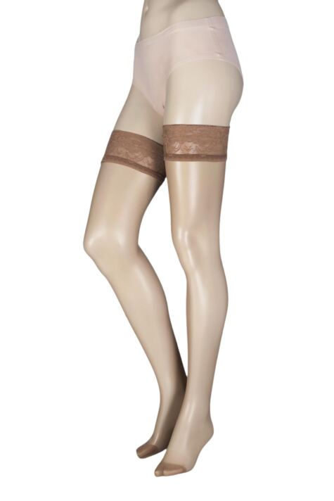 9c551cde654 Oroblu Soriee 15 Denier Hold Ups With Lace Top