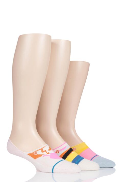 Ladies 3 Pair Stance Corita Cotton No Show Socks Product Image