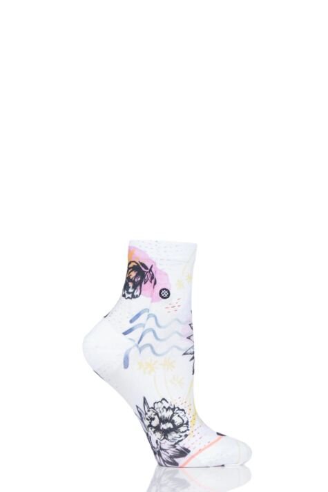Ladies 1 Pair Stance Luster Floral Everyday Low Rider Socks Product Image