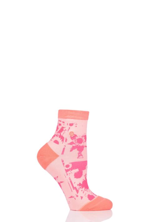 Ladies 1 Pair Stance Sun Fleur Everyday Low Rider Socks Product Image