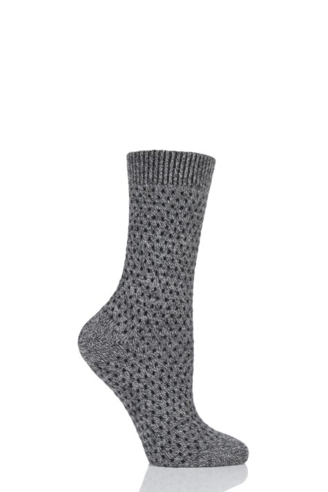 Ladies 1 Pair Pantherella Dotty 85% Cashmere Socks Product Image