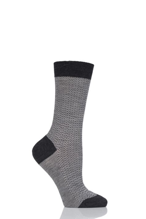 Ladies 1 Pair Pantherella Hatty Herringbone Merino Wool Socks Product Image