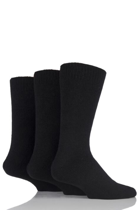 Mens 3 Pair Workforce Thermal Socks In Black Product Image
