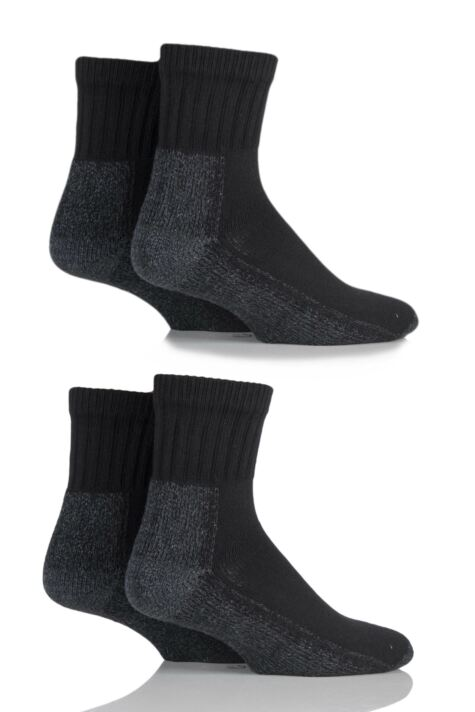 Mens and Ladies 4 Pair Workforce Safety Trainer Socks Product Image