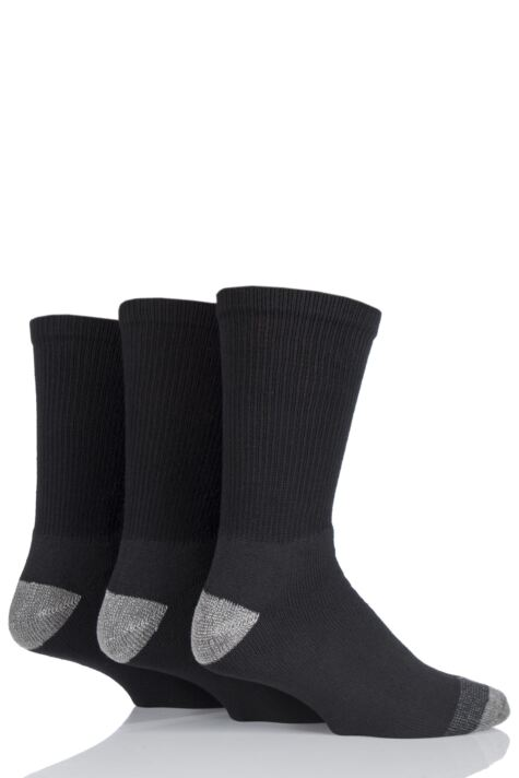 Mens 3 Pair Workforce Work Wear Socks Product Image