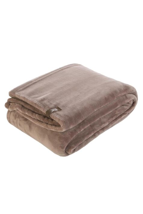 SockShop Heat Holders Snuggle Up Thermal Blanket In Winter Fawn Product Image