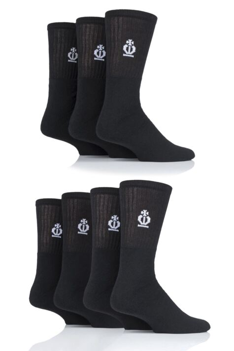 Mens 7 Pair Jeff Banks Cotton Sports Socks Product Image
