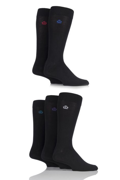 Mens 5 Pair Jeff Banks Chelmsford Plain Bamboo Socks Product Image