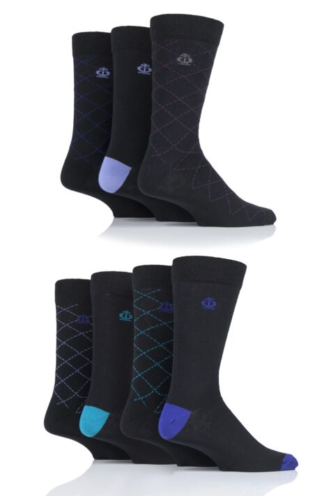 Mens 7 Pair Jeff Banks Widmore Patterned Cotton Socks Product Image