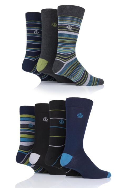 Mens 7 Pair Jeff Banks Hereford Stripes Cotton Socks Product Image