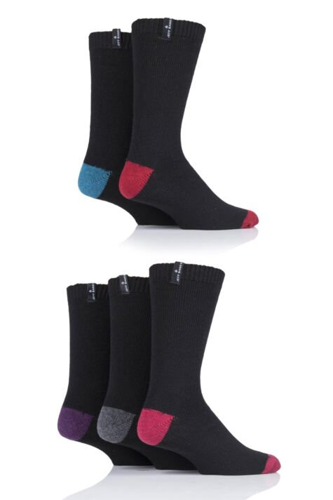 Mens 5 Pair Jeff Banks Contrast Heel and Toe Wool Mix Leisure Socks Product Image