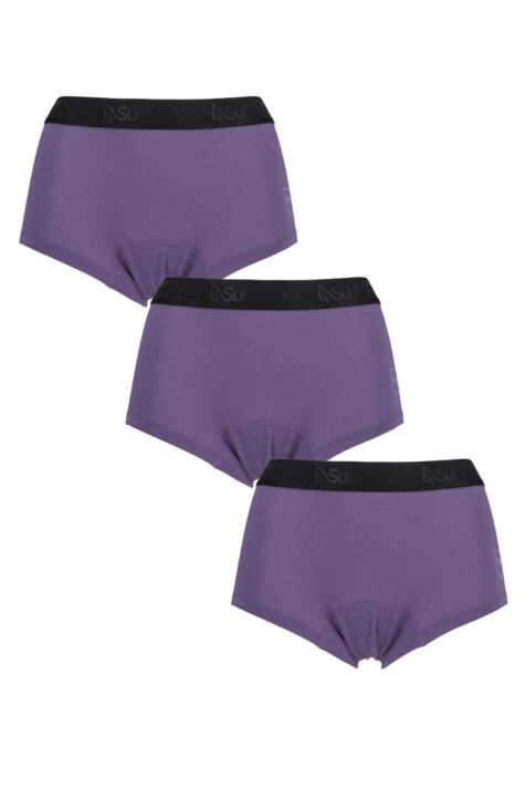 Ladies 3 Pack SueMe Beech Shorties Beech Tree Pulp Knickers Product Image
