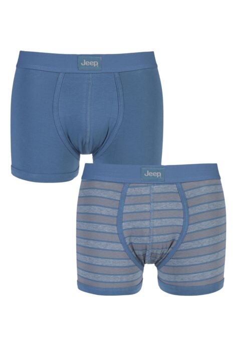 Mens 2 Pack Jeep Wide Stripe and Plain Hipster Trunks Product Image