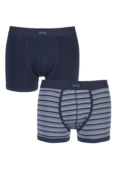 Mens 2 Pack Jeep Dual Stripe and Plain Hipster Trunks Product Image
