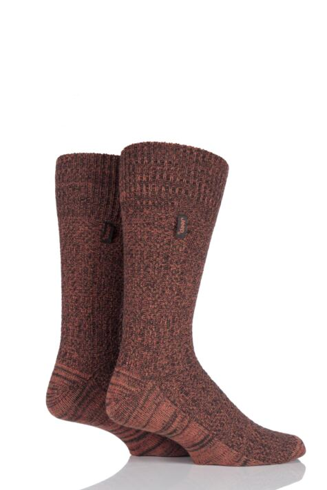 Mens 2 Pair Jeep Urban Trail Wool Ribbed Boot Socks Product Image